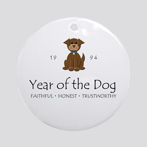 """""""Year of the DOg"""" [1994] Ornament (Round)"""